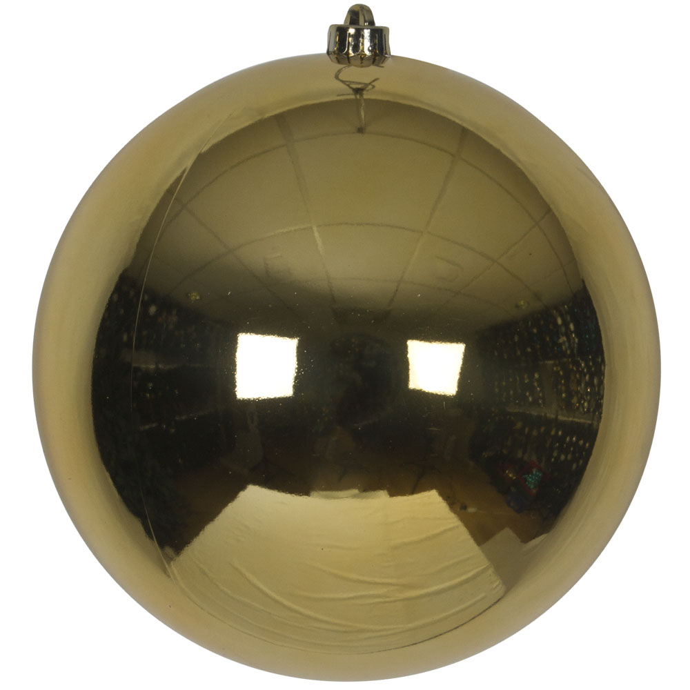 Champagne Gold Baubles Shiny Shatterproof - Single 250mm
