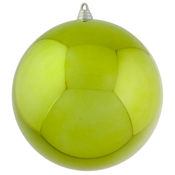 Lime Green Baubles Shiny Shatterproof - Single 250mm
