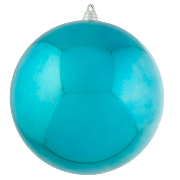 Light Turquoise Baubles Shiny Shatterproof - Single 250mm