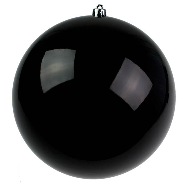 Black Baubles Shiny Shatterproof - Single 300mm