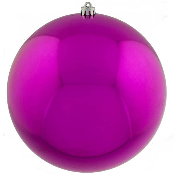 Cerise Pink Baubles Shiny Shatterproof - Single 300mm