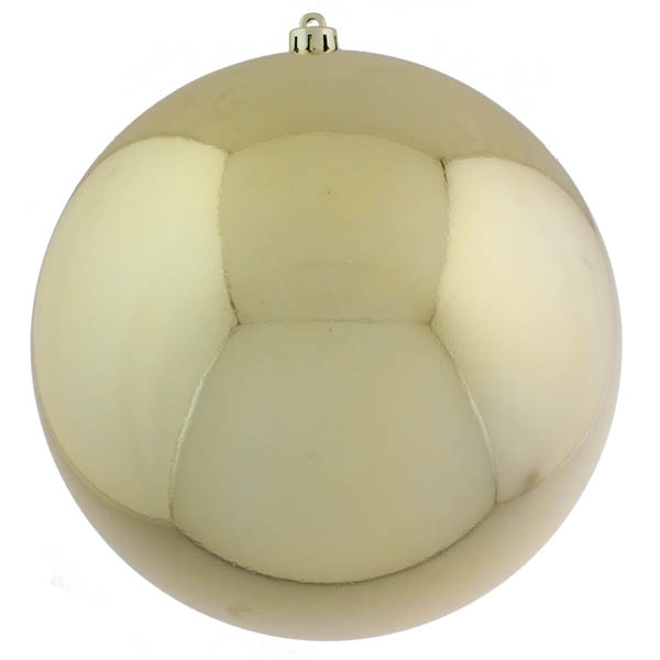 Gold Baubles Shiny Shatterproof - Single 300mm
