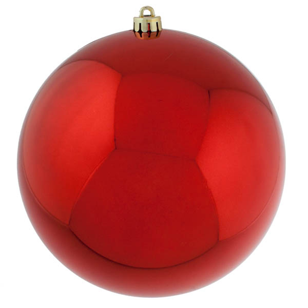 Red Baubles Shiny Shatterproof - Single 300mm