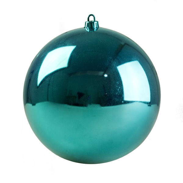 Light Turquoise Baubles Shiny Shatterproof - Single 300mm