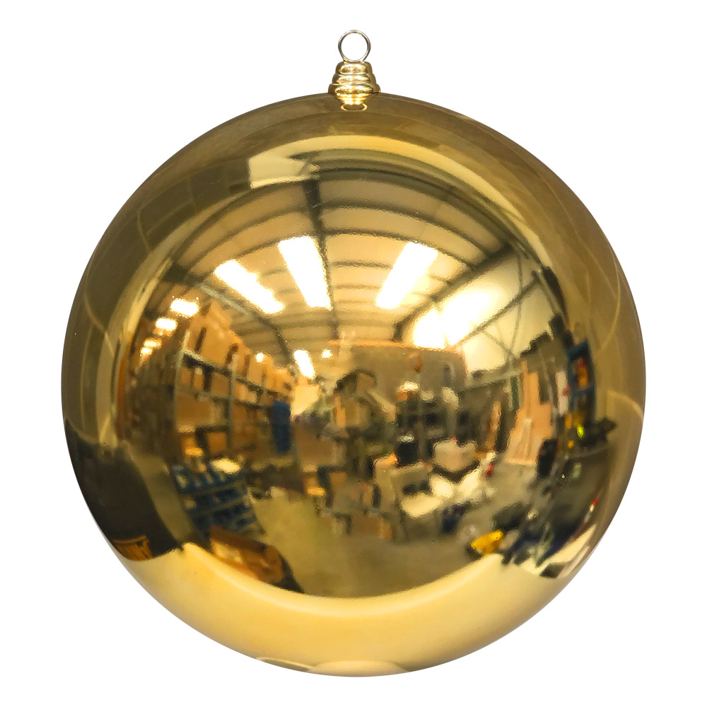 Metallic Gold Baubles Shiny Shatterproof - Single 400mm