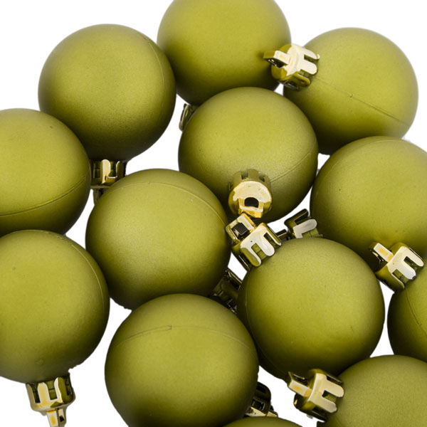 Lime Green Shatterproof Baubles  - Pack of 18 x 40mm Matt