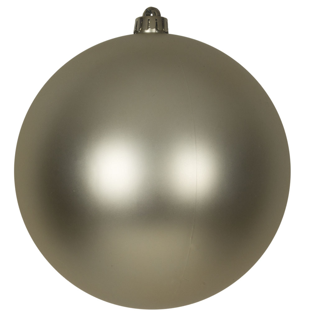 Champagne Gold Shatterproof Baubles  - Single 200mm Matt