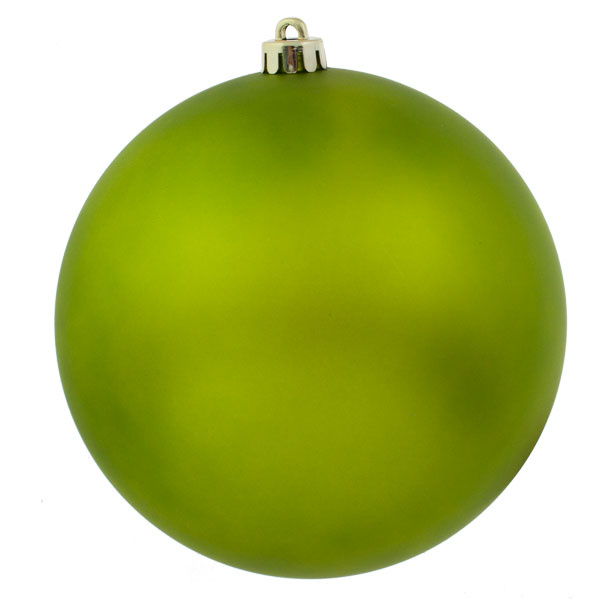 Lime Green Shatterproof Baubles  - Single 200mm Matt