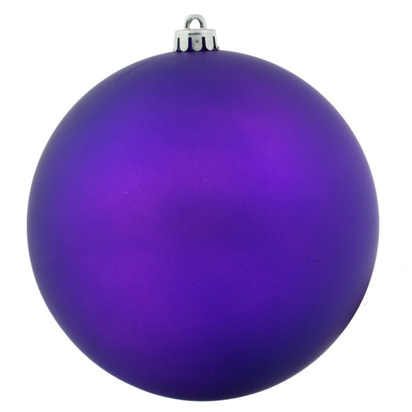 Purple Shatterproof Baubles  - Single 200mm Matt