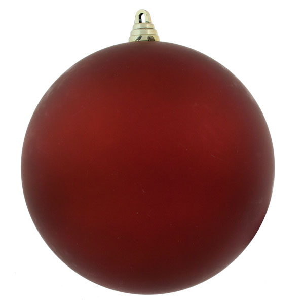 Red Shatterproof Baubles  - Single 200mm Matt