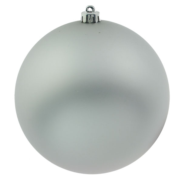 Silver Shatterproof Baubles  - Single 200mm Matt