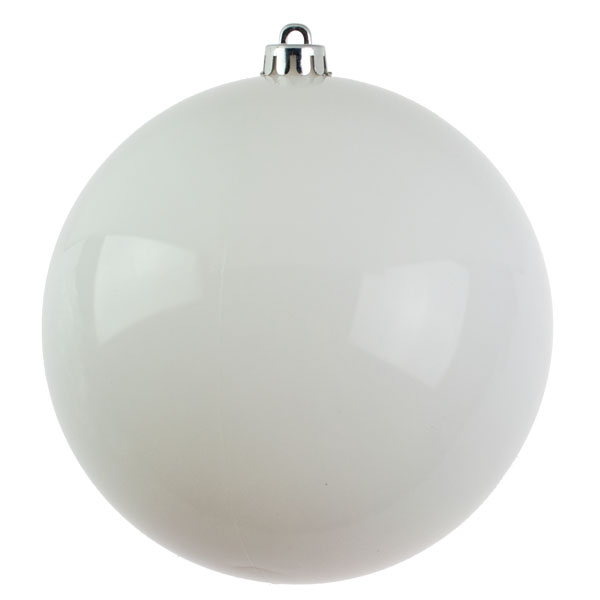 White Shatterproof Baubles  - Single 200mm Matt