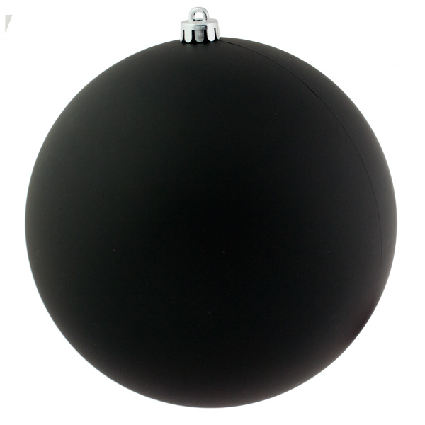 Black Shatterproof Baubles  - Single 250mm Matt