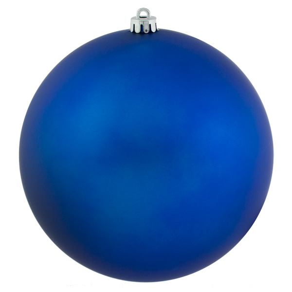 Blue Shatterproof Baubles  - Single 250mm Matt