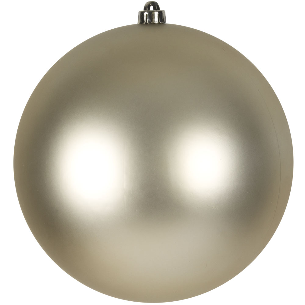 Champagne Gold Shatterproof Baubles  - Single 250mm Matt