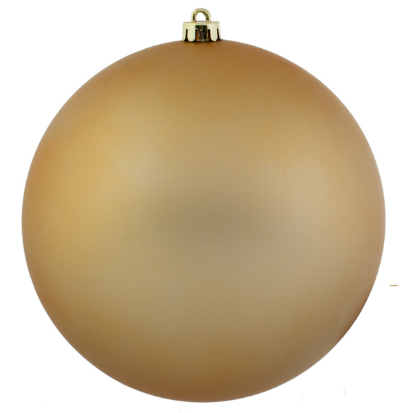 Gold Shatterproof Baubles  - Single 250mm Matt