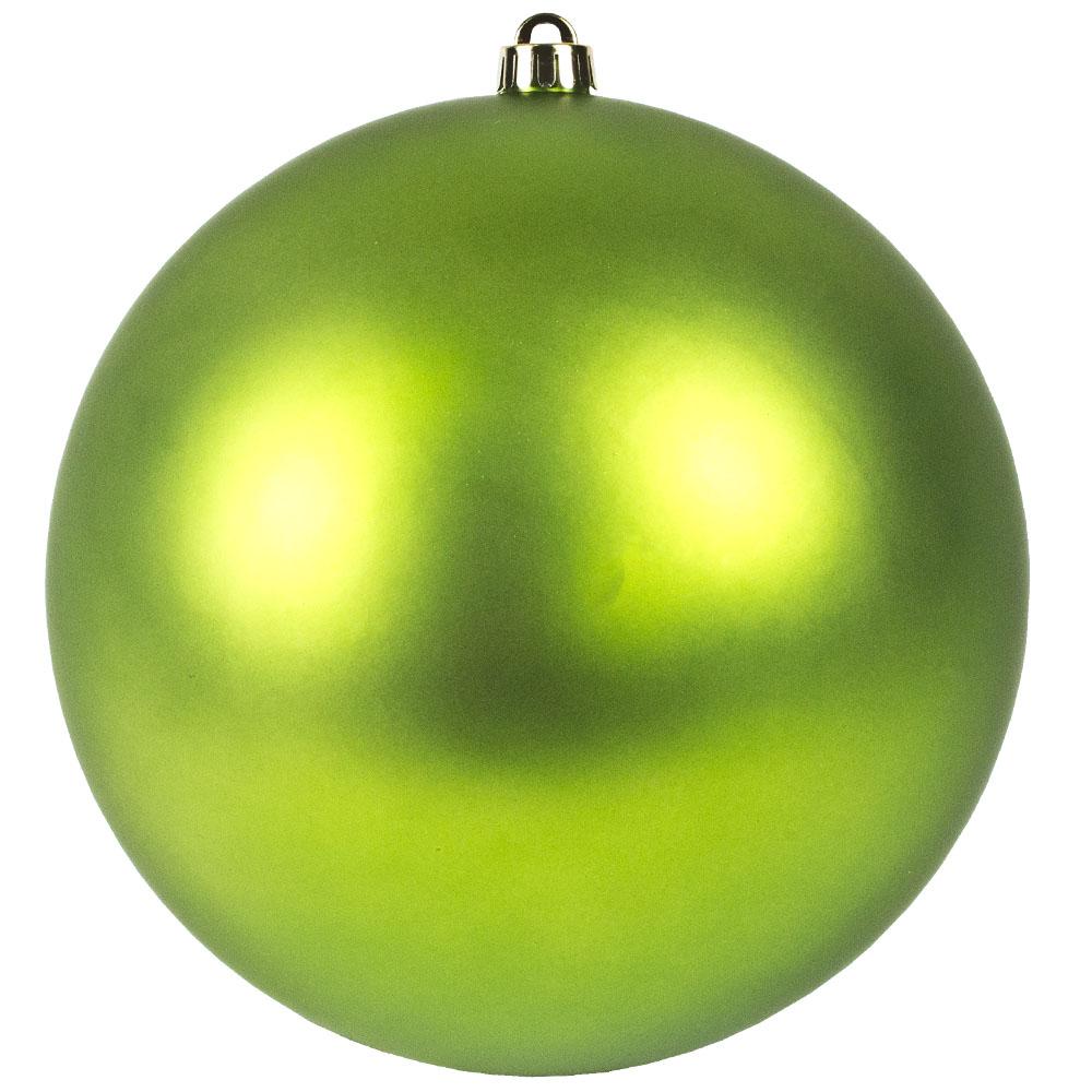 Lime Green Shatterproof Baubles  - Single 250mm Matt