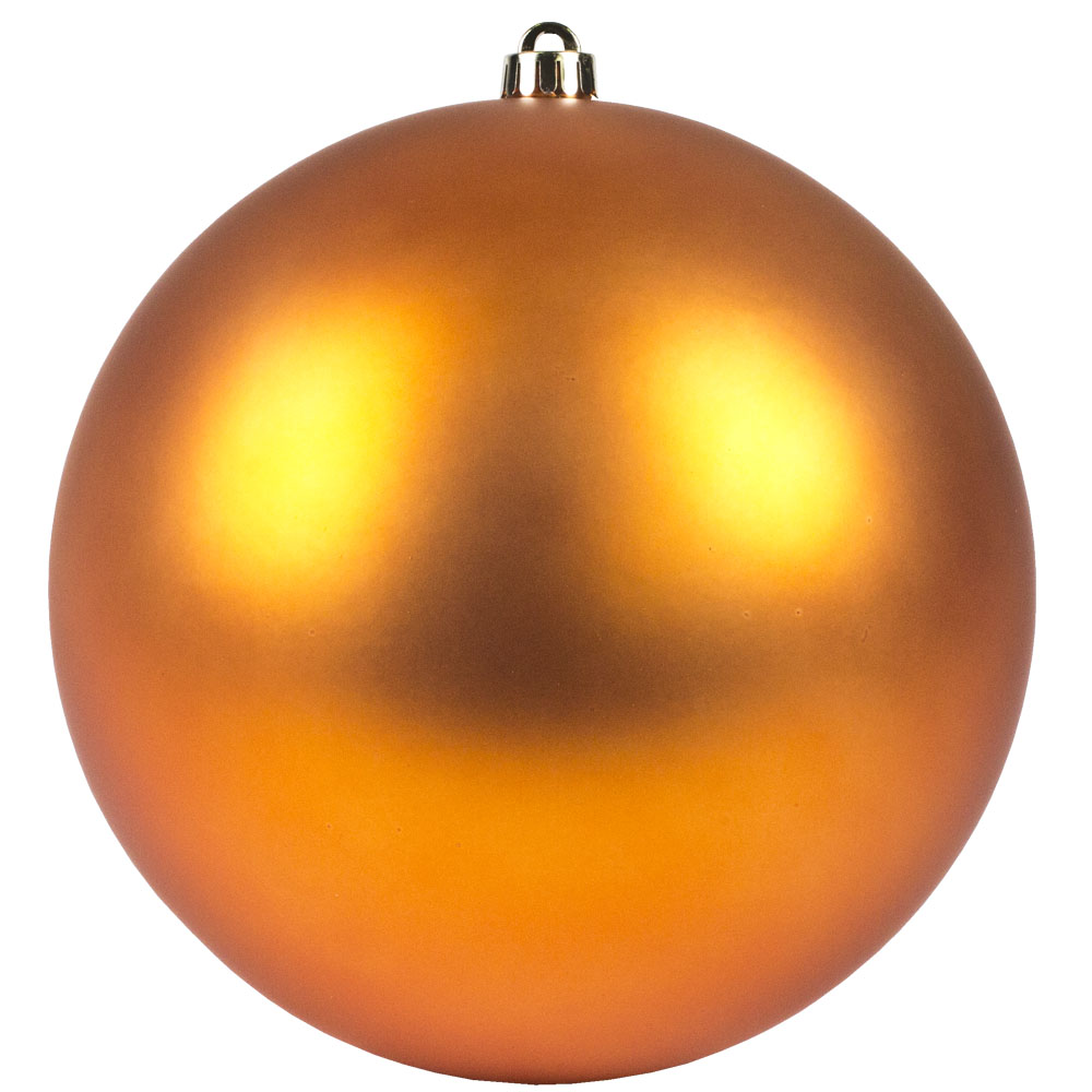 Copper Orange Shatterproof Baubles  - Single 250mm Matt
