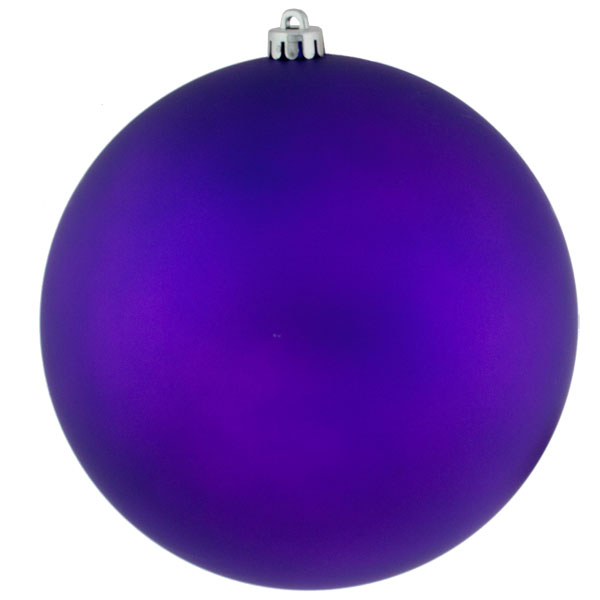 Purple Shatterproof Baubles  - Single 250mm Matt
