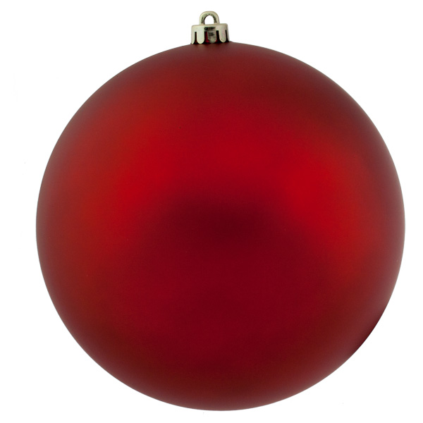 Red Shatterproof Baubles  - Single 250mm Matt