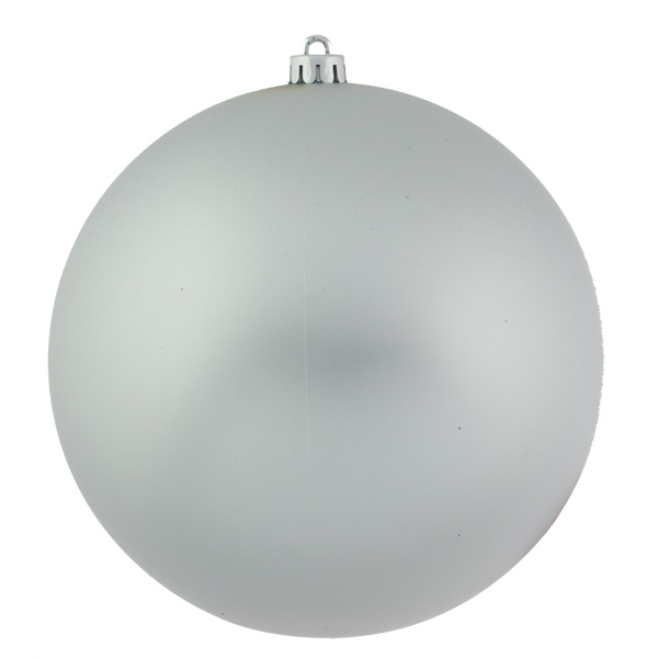 Silver Shatterproof Baubles  - Single 250mm Matt