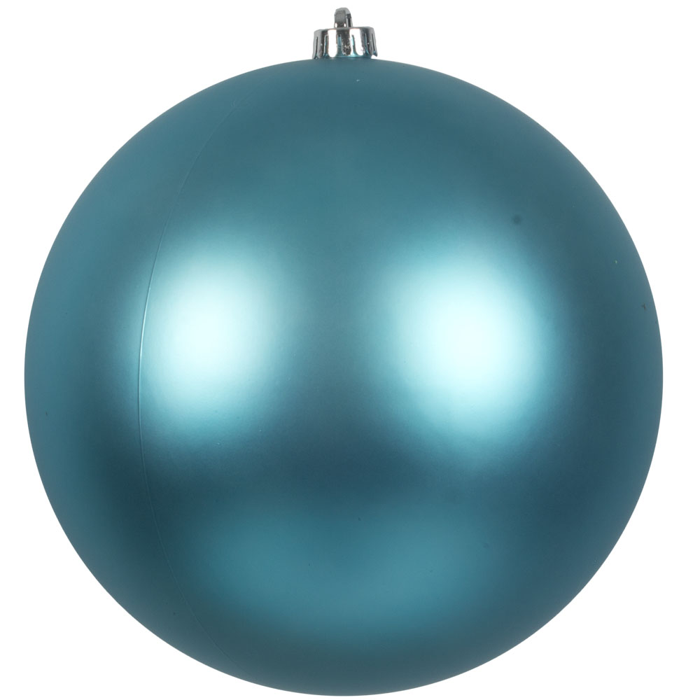 Light Turquoise Shatterproof Baubles  - Single 250mm Matt