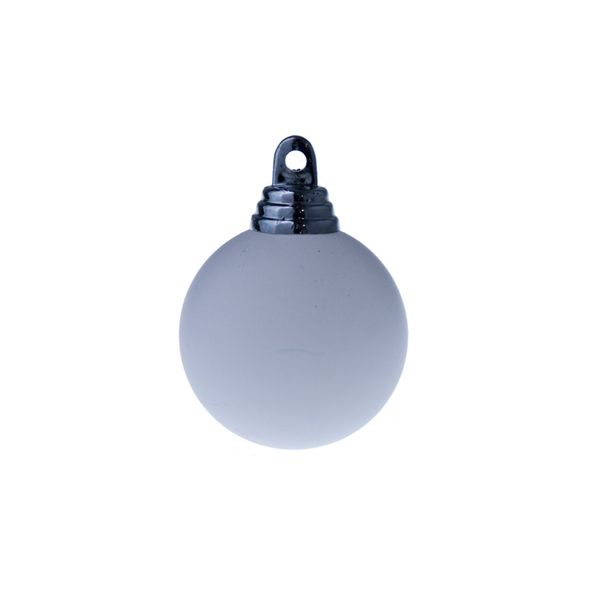 White Shatterproof Baubles  - Single 250mm Matt