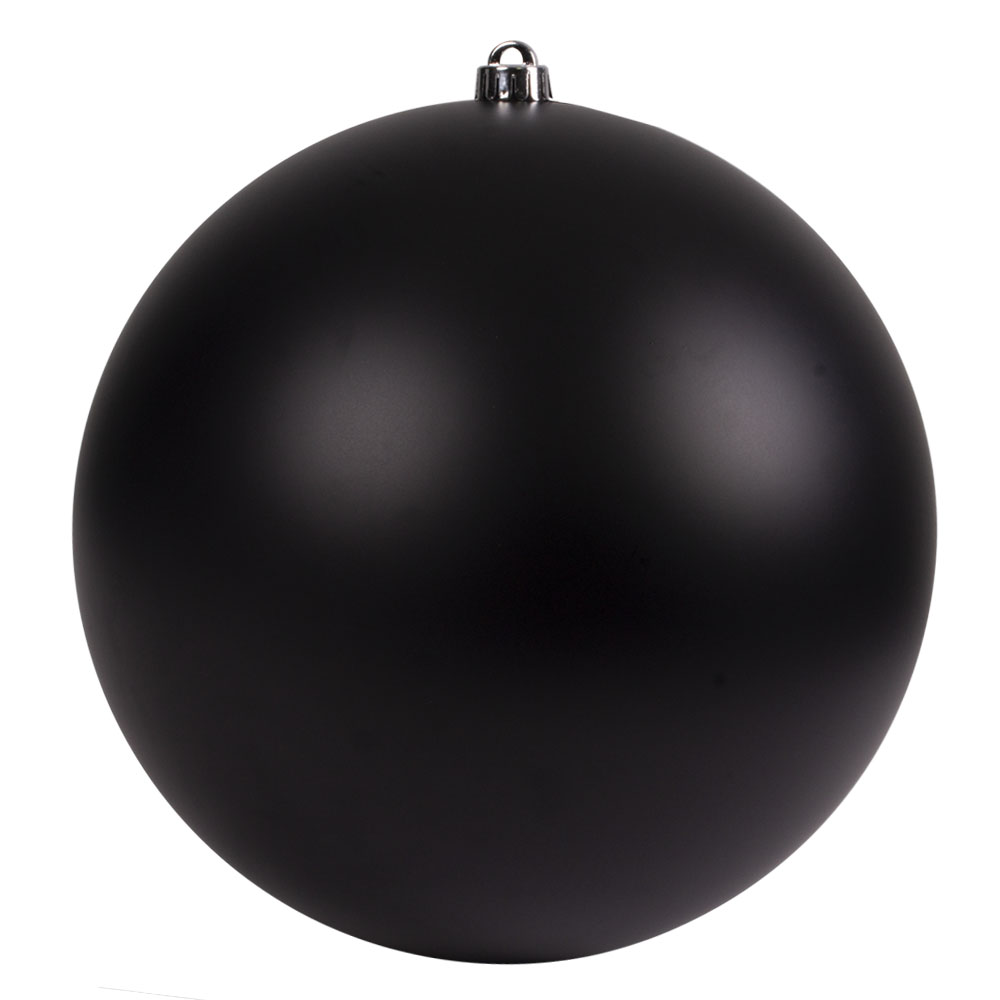 Black Shatterproof Baubles  - Single 300mm Matt