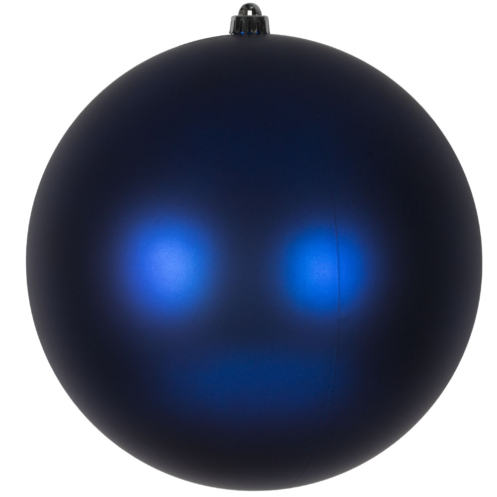 Electric Blue Shatterproof Baubles  - Single 300mm Matt