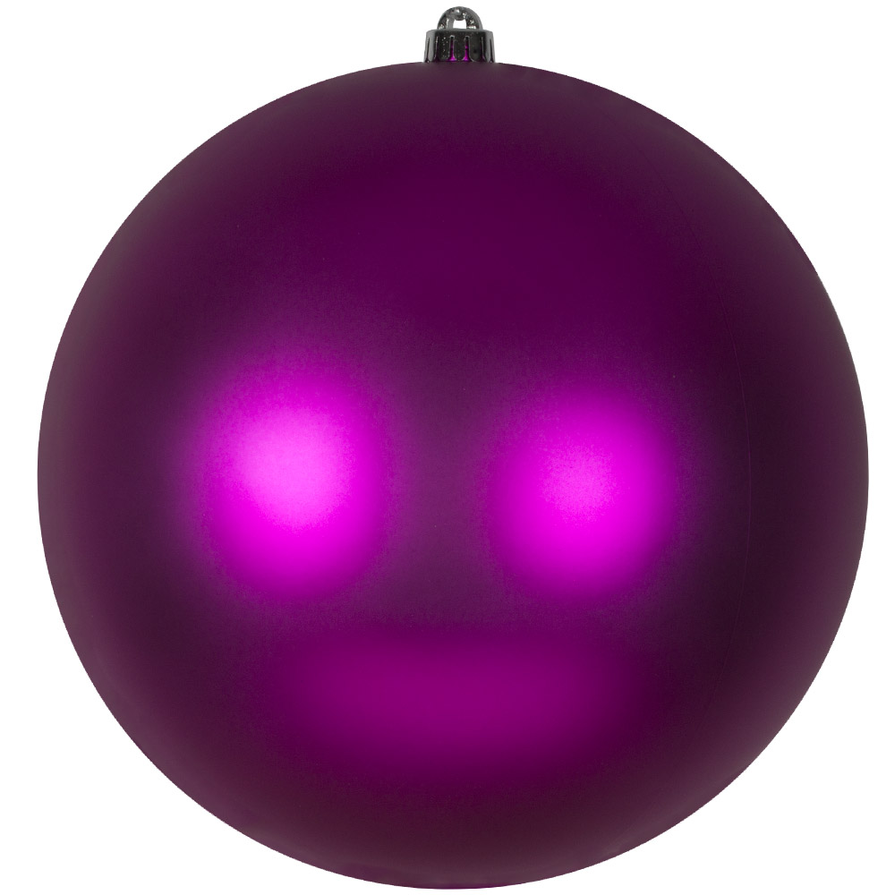 Cerise Pink Shatterproof Baubles  - Single 300mm Matt