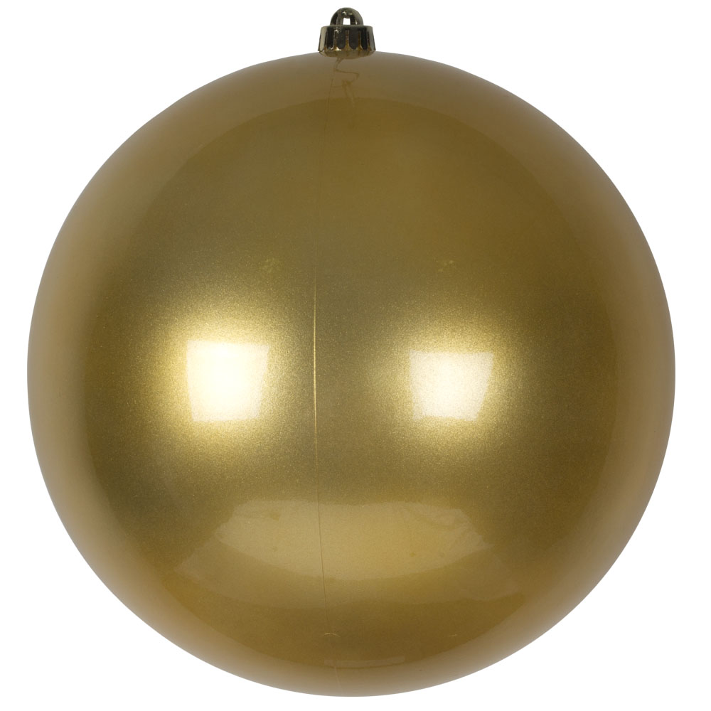 Metallic Gold Shatterproof Baubles  - Single 300mm Matt
