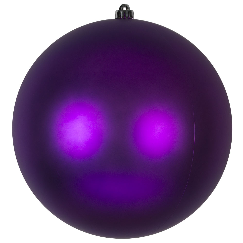 Purple Shatterproof Baubles  - Single 300mm Matt