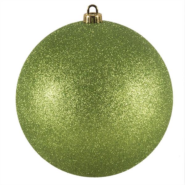 Xmas Baubles - Single 200mm Lime Green Glitter Shatterproof