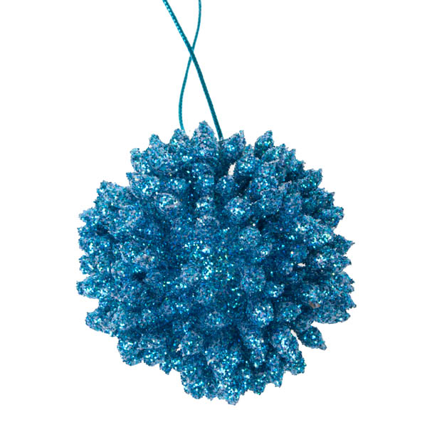 Turquoise Spiky Porcupine Bauble - 80mm