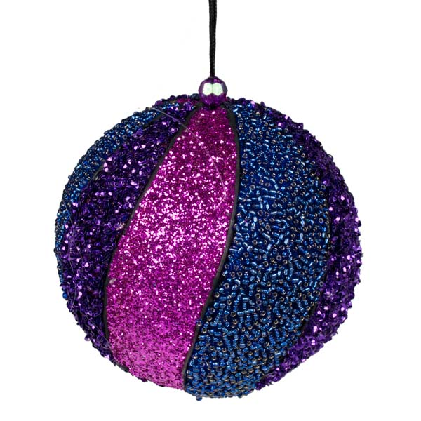 Multicoloured Sequin Bauble - 130mm