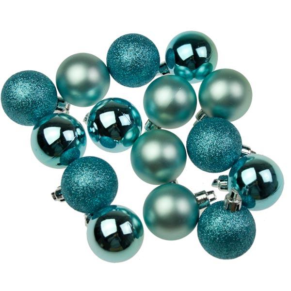 Blue Christmas Ball Ornaments Uk: Blue Multi Finish Shatterproof Baubles