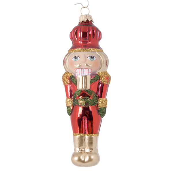 Krebs Glas Lauscha Collectable Glass Nutcrackers - 2 X 13cm