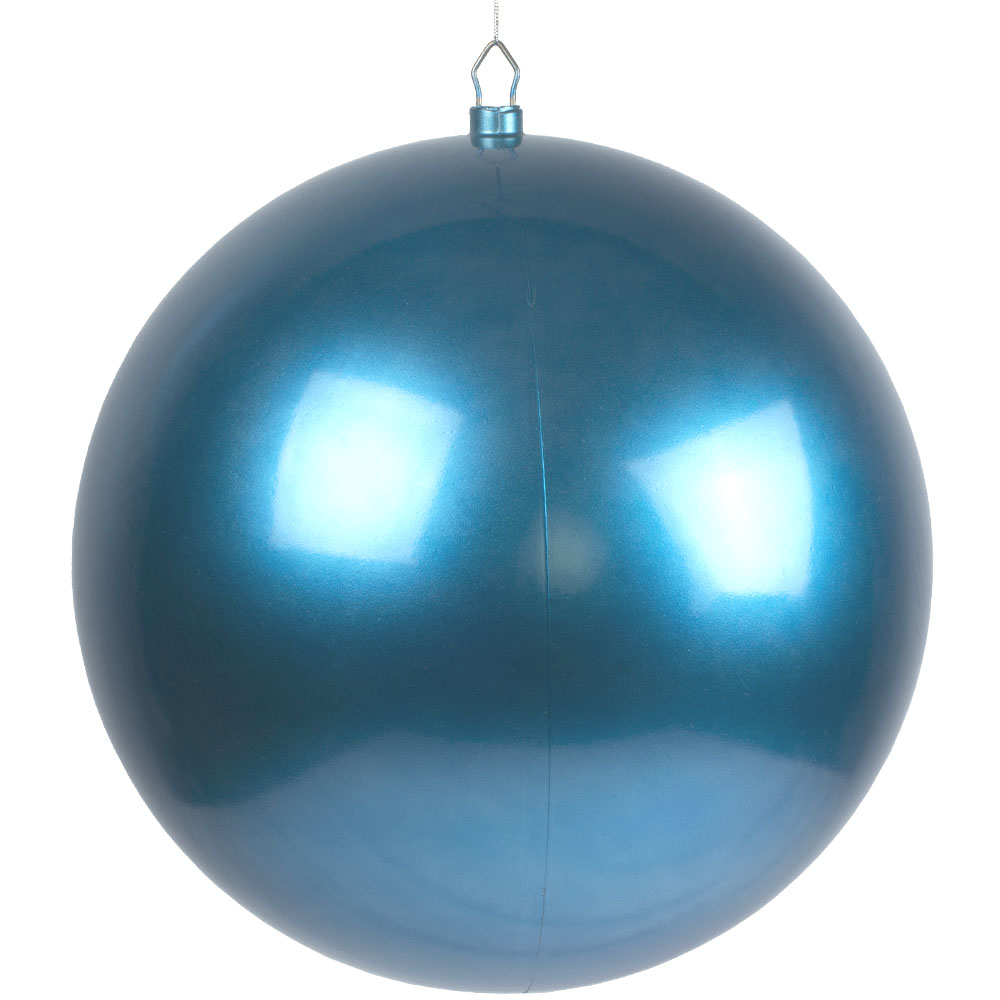 Turquoise Metallic Finish Shatterproof Bauble - Single 400mm