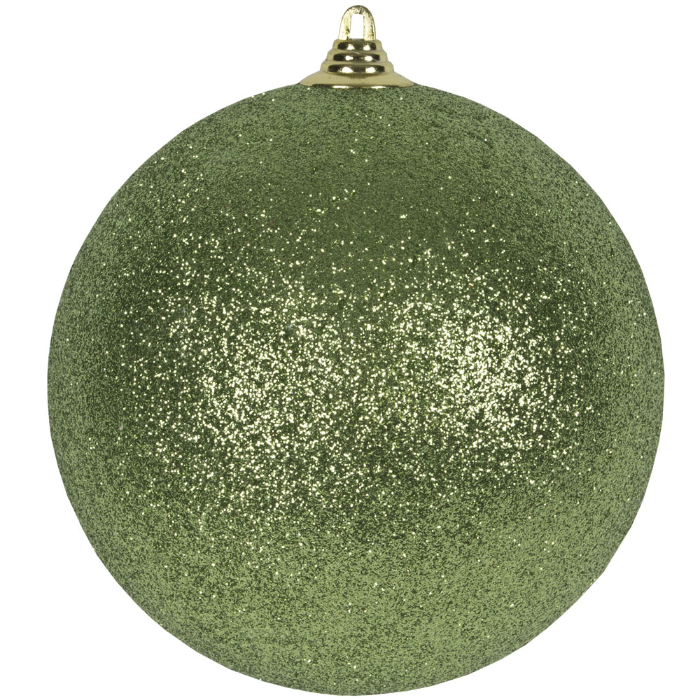 Cedar Green Shatterproof Glitter Bauble - 135mm