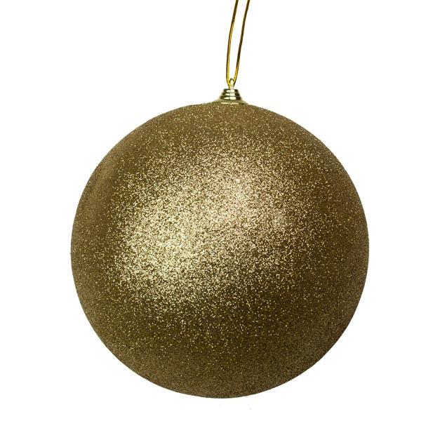 Gold Shatterproof Glitter Bauble - 180mm