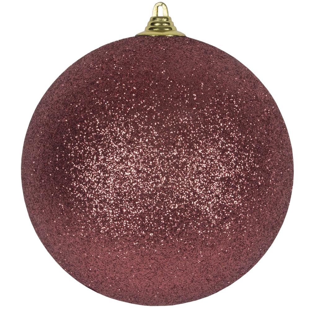 Pink Shatterproof Glitter Bauble - 180mm