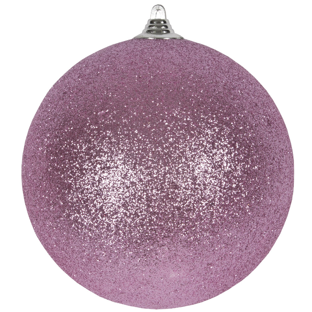 Rose Blush Shatterproof Glitter Bauble - 250mm