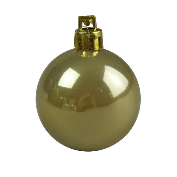 Pearlised Antique Gold Shatterproof Baubles - 18 x 40mm