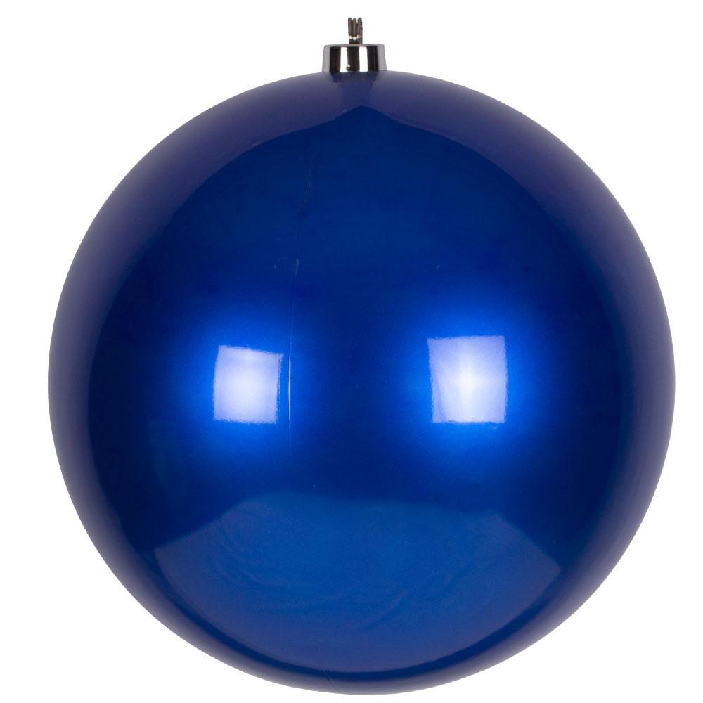 Blue Metallic Finish Shatterproof Bauble - 500mm