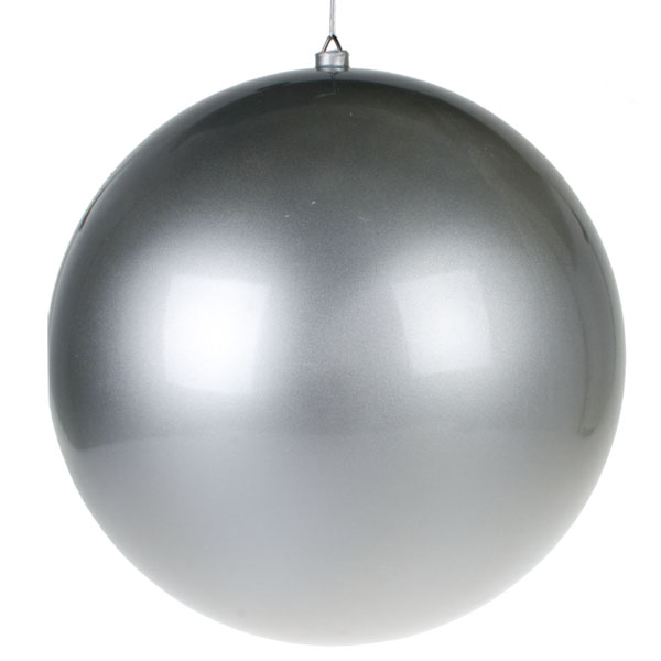 Silver Metallic Finish Shatterproof Bauble - 500mm