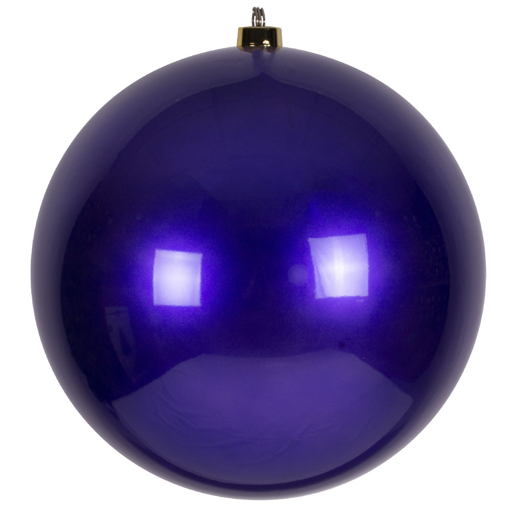 Purple Metallic Finish Shatterproof Bauble - 600mm
