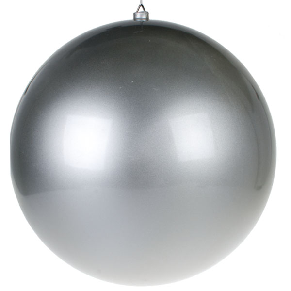 Silver Metallic Finish Shatterproof Bauble - 600mm