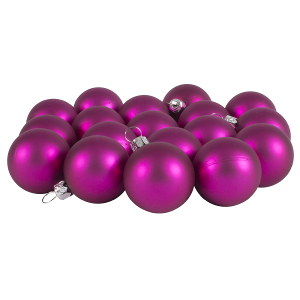 Luxury Cerise Pink Satin Finish Shatterproof Baubles - Pack of 18 x 40mm