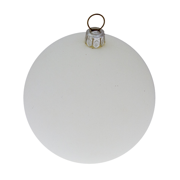 Luxury White Satin Finish Shatterproof Baubles - Pack of 18 x 60mm