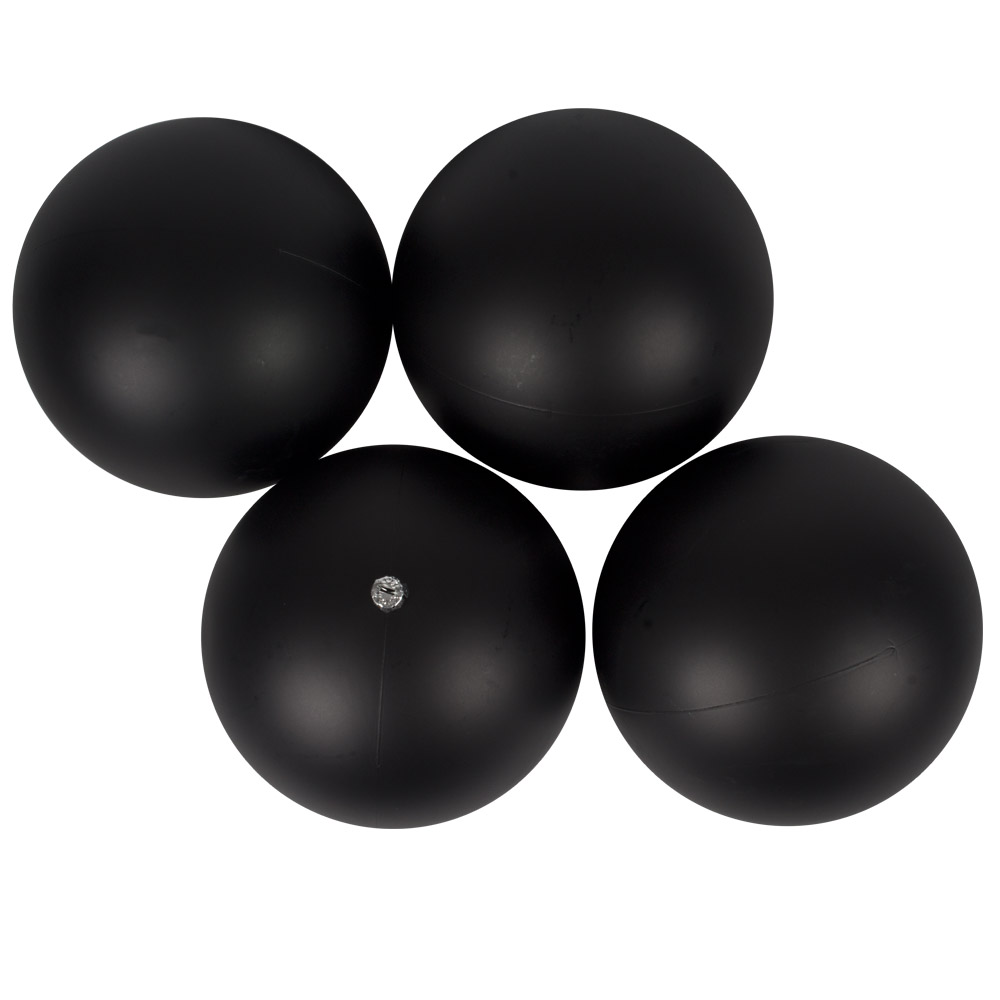 Luxury Black Satin Finish Shatterproof Baubles - Pack 4 x 140mm